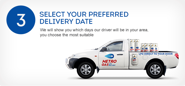 Select your preferred delivery date